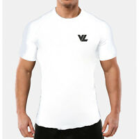 VL SPORTS Ice White Performance Gym Top | Fitness Training T-Shirt | Muscle Fit