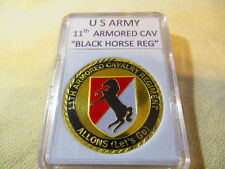 """US ARMY 11th ARMORED CAVALRY """"BLACK HORSE DIVISION"""" Challenge Coin"""