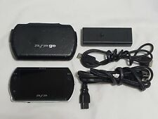 Sony PSP Go Model PSP-N1001 Console w/ Power Cable & Cover 16 GB System Black