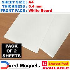 2 x A4 Whiteboard Magnet Sheets White Board Wedding Art School Craft Marker .4mm