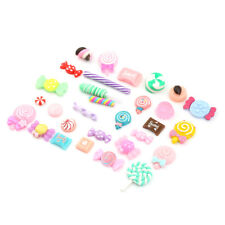 30PCS Mixed Food Resin Flatback Kawaii Cabochon Candy Kitchen Toys Gift E&F