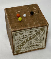 Victorian Small Cube Toilet PINS Made in Germany Vintage Estate 4 Pins As Found