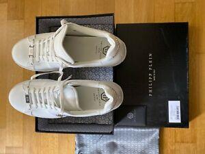 Philipp Plein Lo-Top Sneakers - Größe 45 - White/Nickel ORIGINAL!  Top Zustand