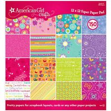 "Scrapbook Paper Pad American Girl 150p  birthday 12"" doll Party Sleepover Craft"