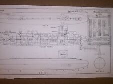 USS STURGEON ship plans
