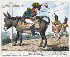 1814 British caricature of Napoleon's exile art print James Gillray
