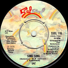 """7"""" - Gaz - Sing Sing + The Good The Bad And The Ugly (BOOGIE FUNK) MINT LISTEN"""