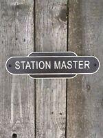 Station Master Railway Sign 38cm Repro British Rail Totem Cast Iron Western