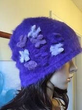 New High End Christmas Winter Angora Wool Cloche Beanie Skater Hat Lili & Poppy