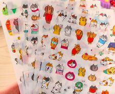Goro Goro Nyansuke funny cute kawaii cartoon cat stickers set of 6 sheets