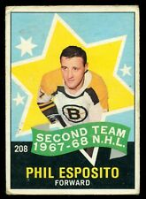 1968-69 OPC O PEE CHEE HOCKEY #208 Phil Esposito VG-EX Boston Bruins All Star