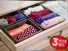 New Dresser Night Table Drawer Organizer System 3-piece Set, Fabric closet bath