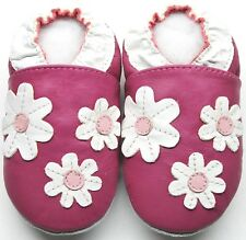 Minishoezoo daisy fuchsia  3-4y new soft sole leather Toddler shoes slippers