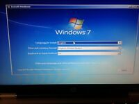 Windows 7 SP1 32 or 64 bit Reinstall Install DVD Disc All Version Fast Shipping