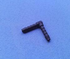 (2744) 1x Schlauchverbinder RGV 5 mm / 30,5 mm schwarz Kunststoff Winkel