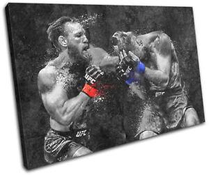 UFC MMA Mcgregor Cerrone Grunge Sports SINGLE CANVAS WALL ART Picture Print
