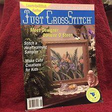 Just Cross Stitch Magazine Fruits Florals Iris August 1993