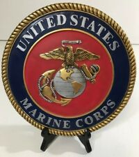New listing U.S. Marines Stepping Stone Or Wall Plaque By Spoontiques Resin *Free Shipping*
