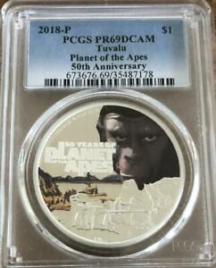 2018 Planet of the Apes 50th Anniversary 1 oz PCGS PR 69 DCAM Box and COA