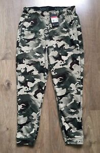 NIKE MENS SIZE L LARGE CAMO CAMOUFLAGE TRAINING PANTS JOGGERS ARMY MILITARY NEW