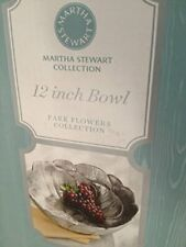 New listing Martha Stewart Park Flowers Collection 12-inch Salad Bowl