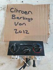 Citroen Berlingo 2012 1.6 hdi HEATER CONTROL UNIT 9676532480