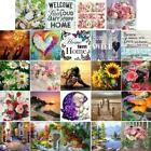 Landscape Flowers DIY 5D Full Drill Diamond Embroidery Painting Cross Stitch
