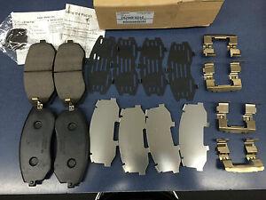Subaru Front brake pad set shims & clips 26296FG010 Legacy Impreza Forester OEM