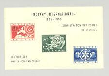 Belgium #479-481 Rotary 3v on 1v Imperf S/S