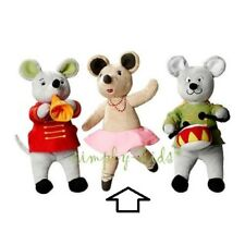 IKEA Klappar Cirkus Soft Toy Dancing Mouse Ballerina Plush Rattle Squeaky