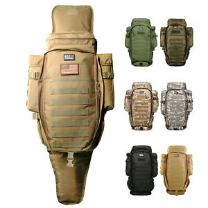 Tactical Rifle Backpack 900D Hunting Full Gear Bag 911 Survival MOLLE Gun Case