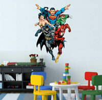 Justice League Wall Sticker Mural Kids Room Boys Decal Home Nursery Decor Art