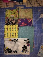 """SEVEN. NOVELTY FABRIC Fat Quarters For """"Eye Spy""""quilts , Face Masks, Craft Proje"""
