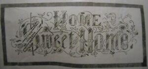 Cross Stitch Kit Jane Snead Belgian Linen HOME SWEET HOME Motto Sampler