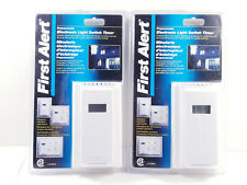 First Alert Programmable Electronic Light Switch Timer x 2 NEW Sealed