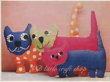 I gatti SOFT TOYS Sewing Pattern. copia dal libro vintage