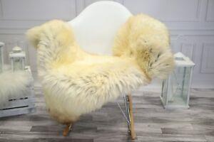 Genuine Natural ivory Sheepskin Rug, Pelt, Real Sheepskin  #JANHER21