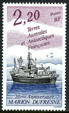 FSAT TAAF 184, MNH. Research Ship Marion Dufresne, 20th anniv. 1993
