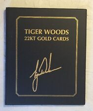 Tiger Woods 22kt Gold Cards - Limited Edition - Upper Deck COA