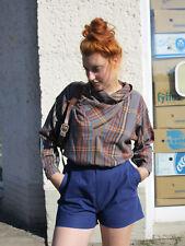 Heinzelmann Bluse kariert 80er TRUE VINTAGE 80s woman blouse top shirt checkered