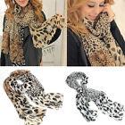 Fashion Women's Long Soft Wrap Lady Shawl Silk Leopard Chiffon Scarf Shawl hs