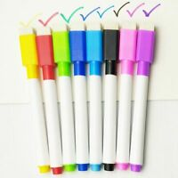 Multicolor Whiteboard Pen Markers With Eraser School Supply Children Coloring