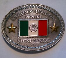 BELT BUCKLE - ESTADOS UNIDOS MEXICANOS MENS BELT BUCKLE BBMEX BRAND NEW