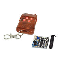 DC5V 4 Channel Relay Wireless Remote Control Mahogany Transmitter + Receiver