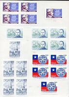 CHILE 20 STAMPS LOT ON ALBUM SHEET, VF