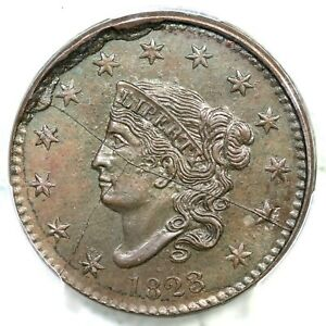 1823 Restrike PCGS MS 63 BN Matron or Coronet Head Large Cent Coin 1c