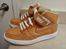 Men's Wheat Brown White Swoosh Ankle Shoes Size 10
