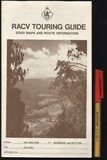 Vintage RACV TOURING GUIDE Route Maps & Guide MELBOURNE - BRISBANE Narrandera TA