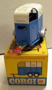 Corgi Toys 112 Rice's Double Horse Box,   original