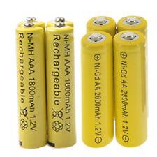 4 AA 2800mAh + 4 AAA 1800mAh battery Bulk Nickel Cadmium Rechargeable 1.2V Yel